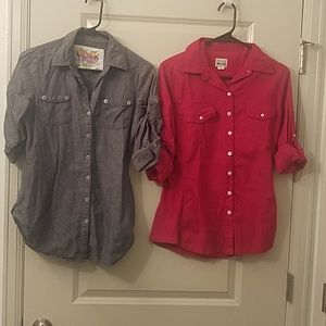 2 for $10 button up shirts